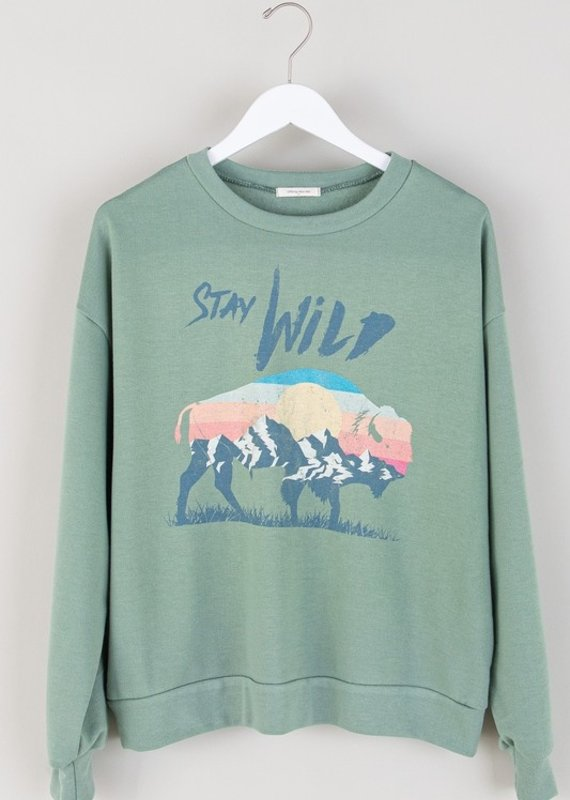 Red Door Stay Wild Sweatshirt