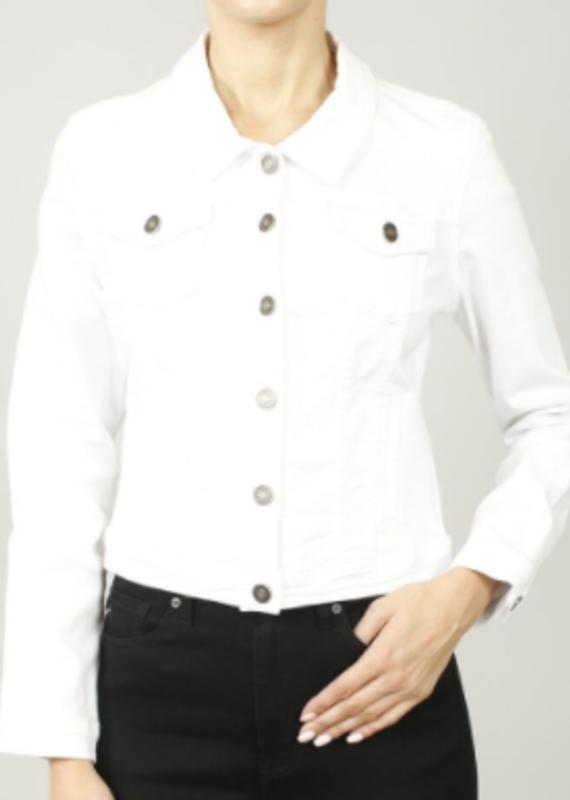 Kancan Zoey's white denim jacket