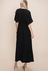 Red Door Dolman sleeve surplice maxi dress