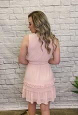 Red Door Blush swiss dot tankn dress