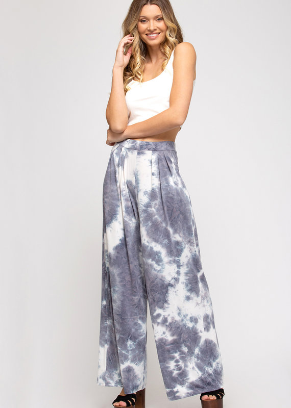 Red Door Gray tie dye wide leg pants