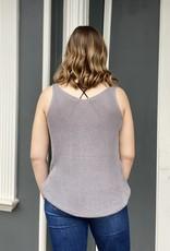 Red Door Charcoal knit tank top