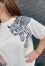 Red Door Cheetah graphic tee