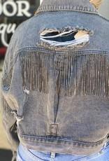 Red Door Paislee's charcoal denim jackets
