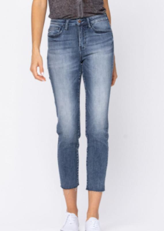 Judy Blue Raven's raw hem jeans