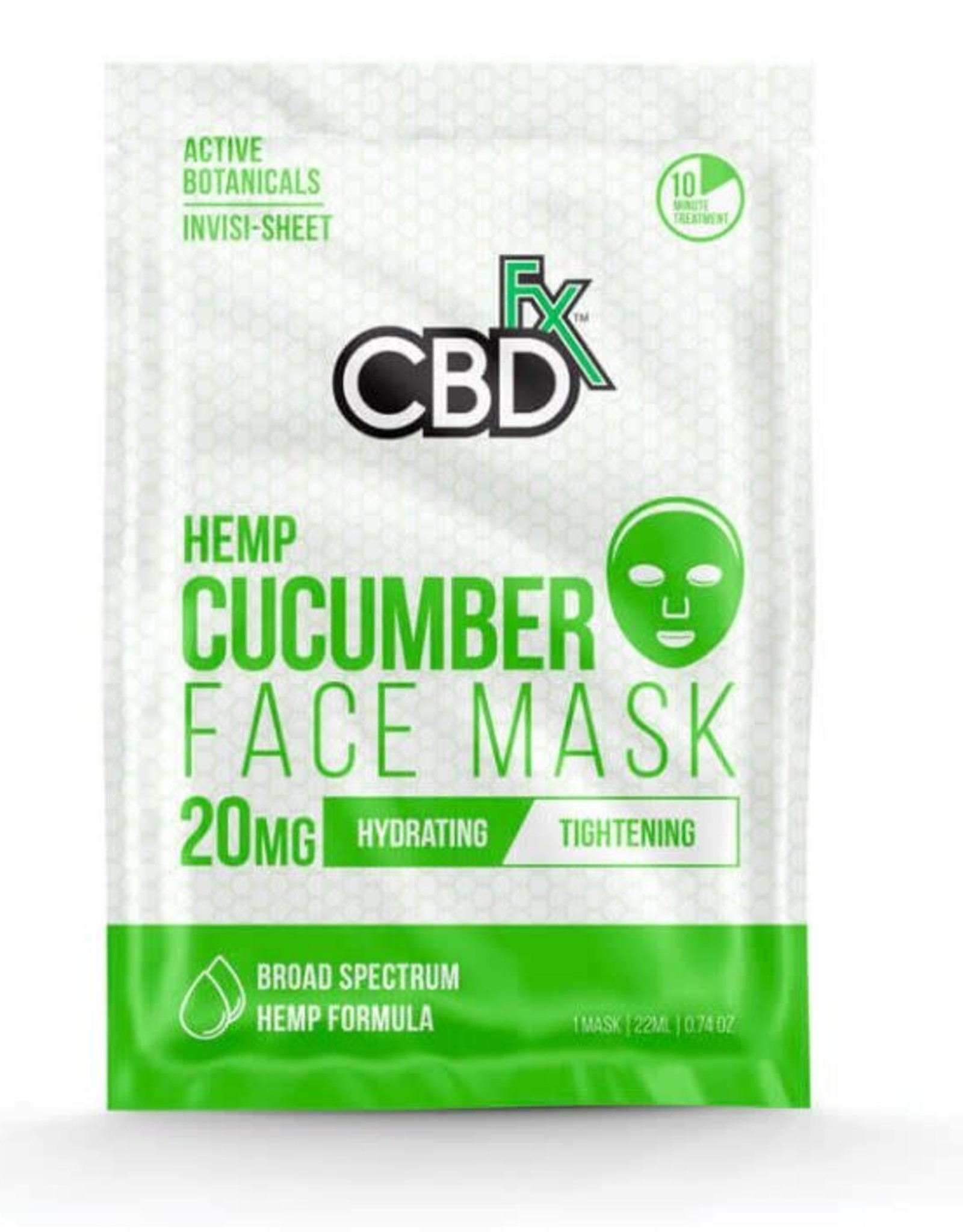 CBD Fx CBD Fx Face Mask - Hemp Cucumber