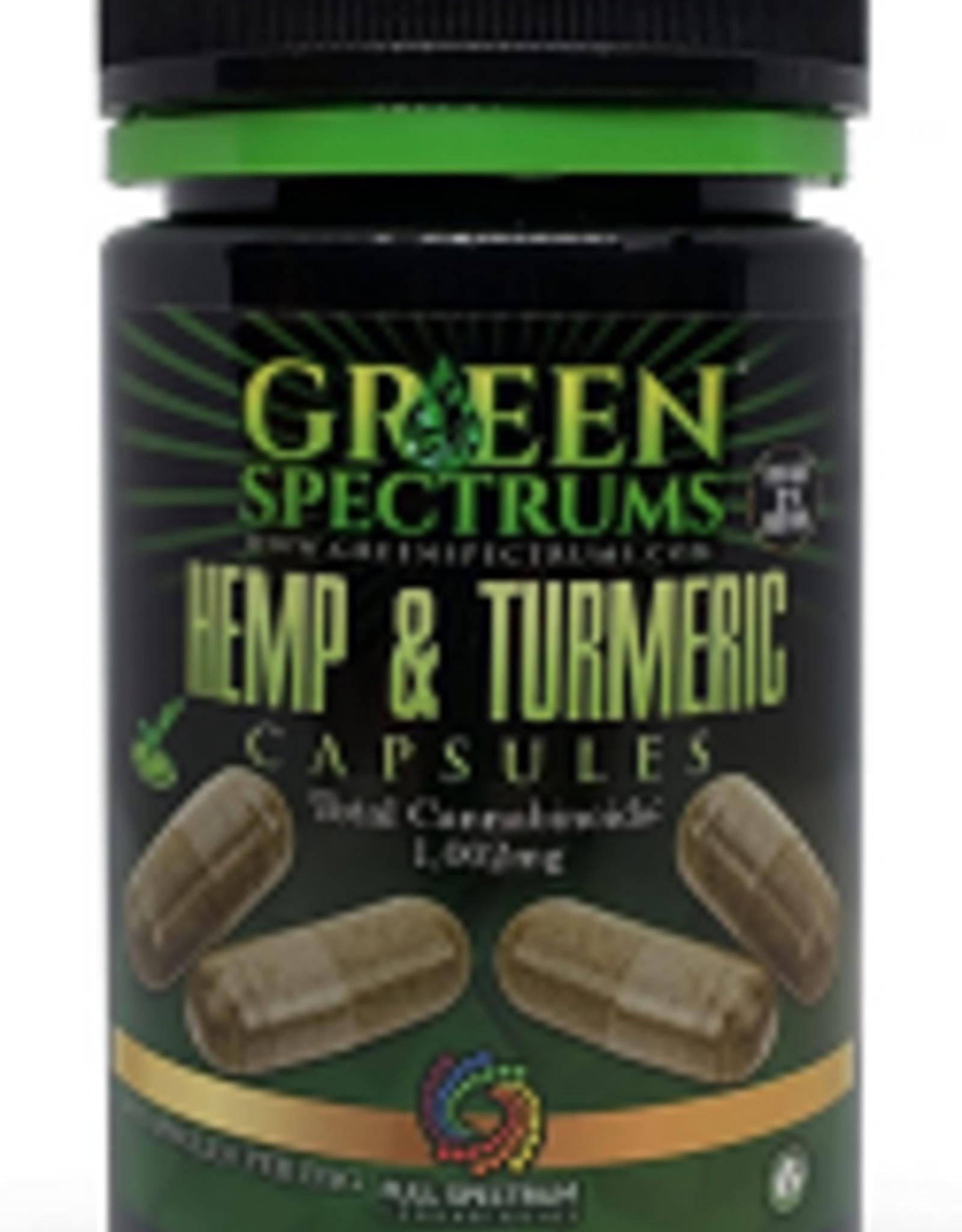 Hemp & Turmeric Capsules - 1002mg
