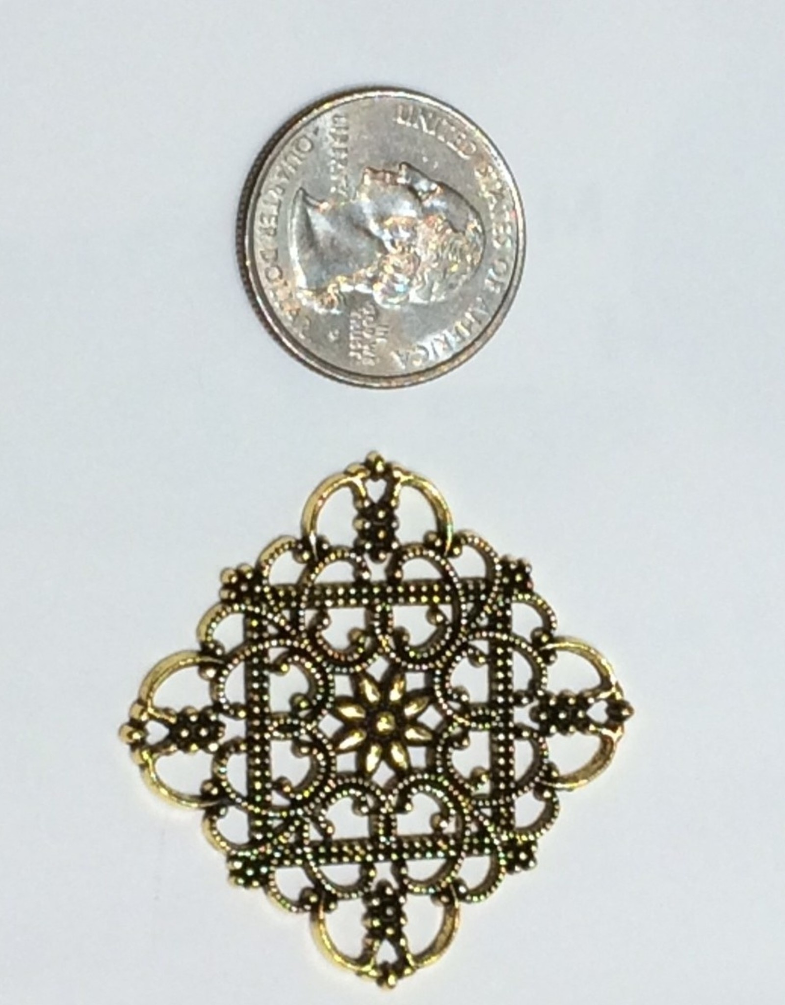 Filigree Finding Brass #3 Antique Gold