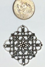Filigree Finding Brass #4 Antique Silver