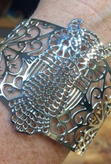 Filigree Stainless Steel Owl