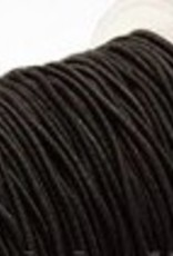 Elastic fiber wrapped cord 8mm Black
