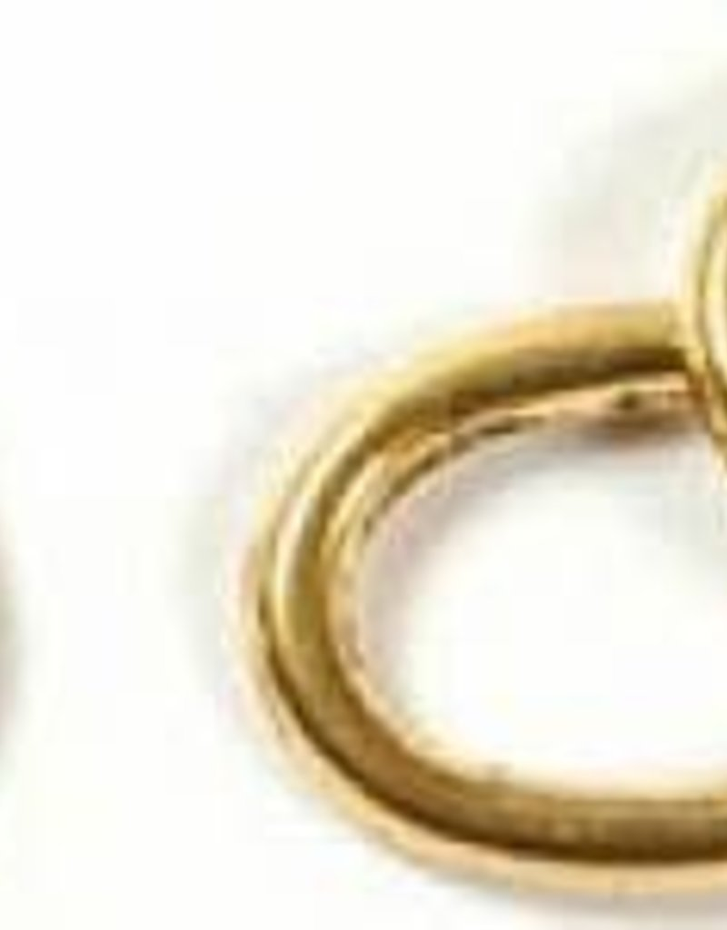 Oval Ring Goldtone (14x10x2mm)