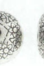 Silver Pillowy Bead (8x12mm)
