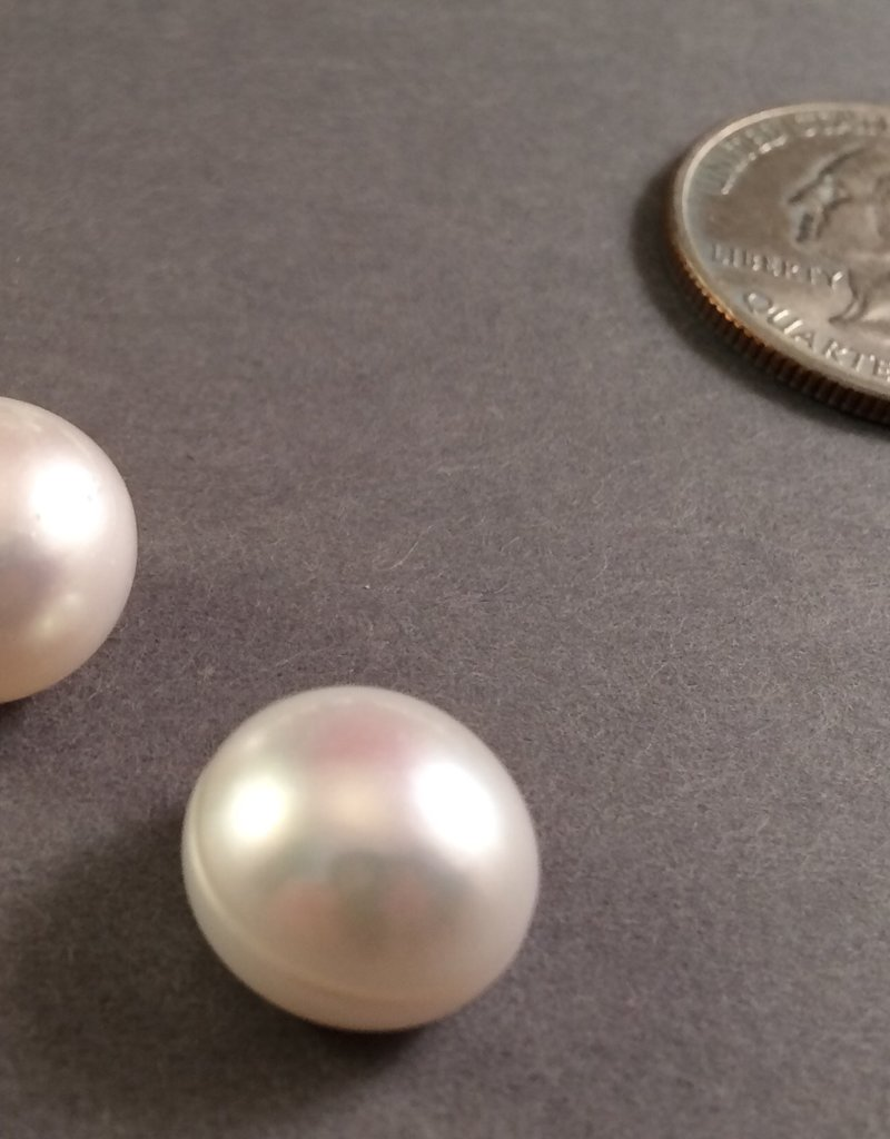 Half Drilled 13-14mm Pearls
