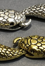 Snake and tail clasp Silver