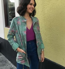 Floral Print Army Jacket