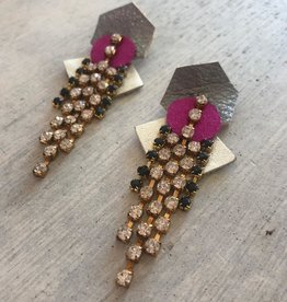 Modern Bohemian Rainstones Earrings