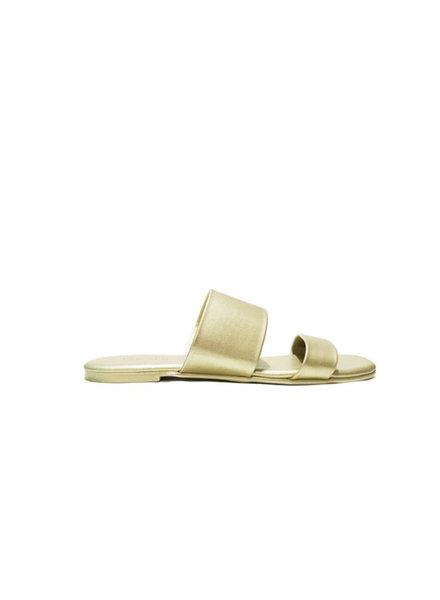 Resort Flat Sandal Gold Mat