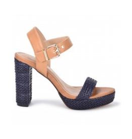 Raffia Heel Sandal