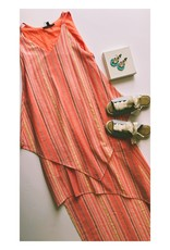 Asymetric Multicolor Stripe Dress