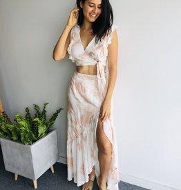 Tie Dye Matching Top & Skirt Set