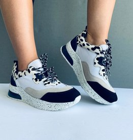 Sneaker Leather Navy/White/Animal