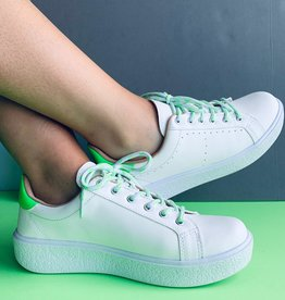 Sneakers White Neon Green