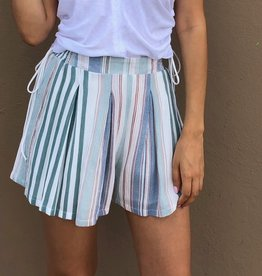 Stripe Smocked Waist Shorts