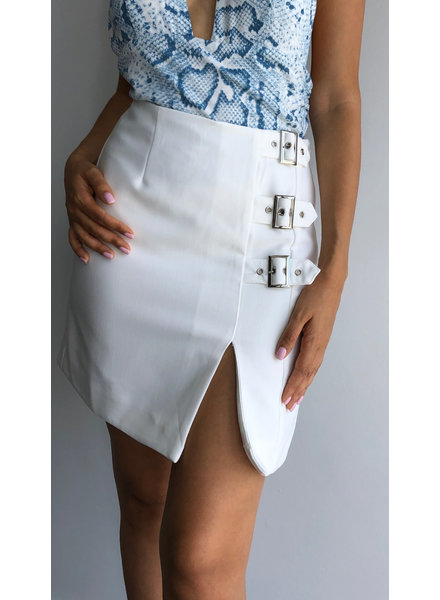Side Buckle Detail Skirt