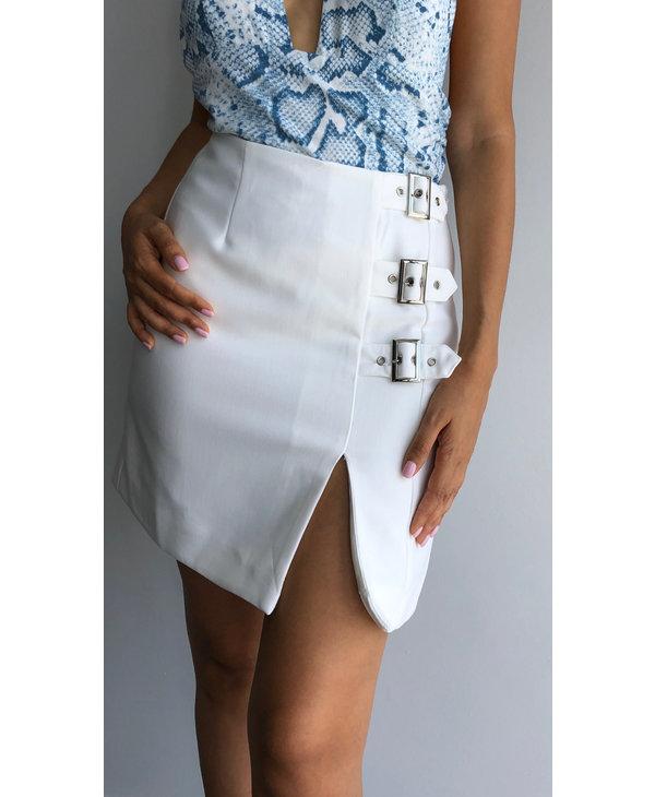 Side Buckle Detail Skirt
