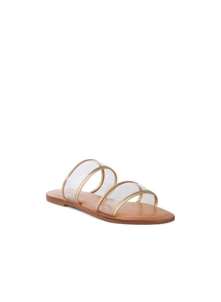 Clear Strap Slide Sandal