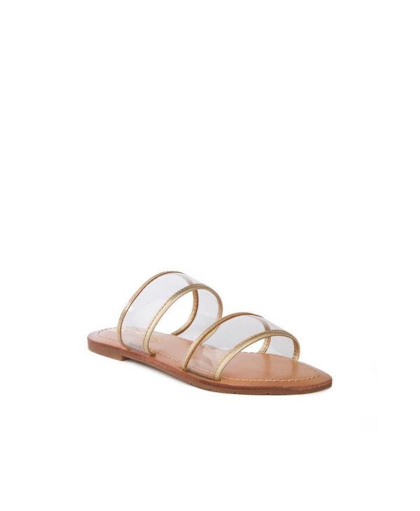 Clear Strap Slide Sandal