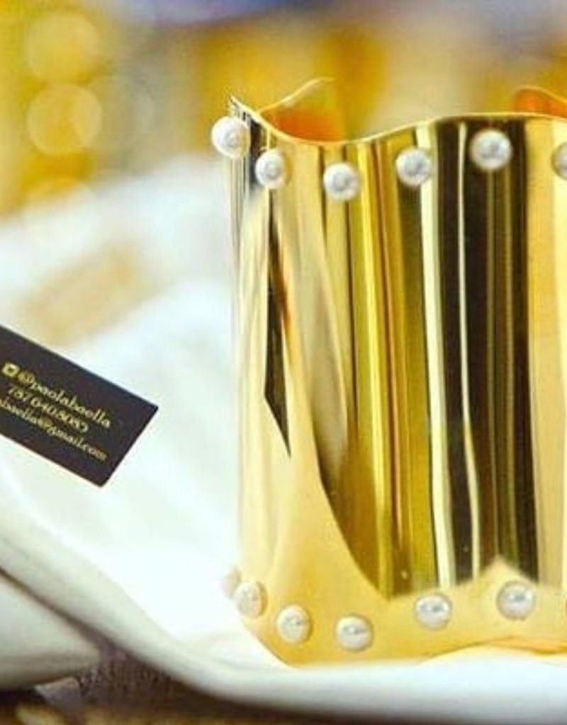 PAOLA BAELLA Gold Cuff Pearls