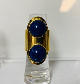 PAOLA BAELLA Lapis Gold & Blue Ring