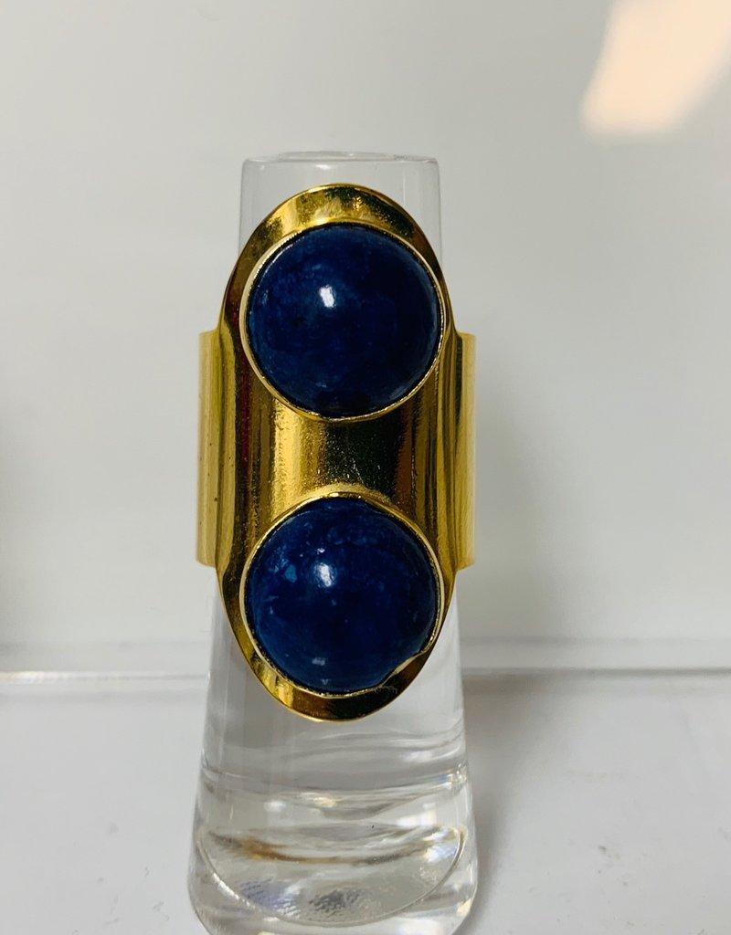 PAOLA BAELLA Lapis Gold & Blue Ring