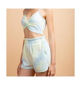 Elastic Waist Tie Dye Shorts