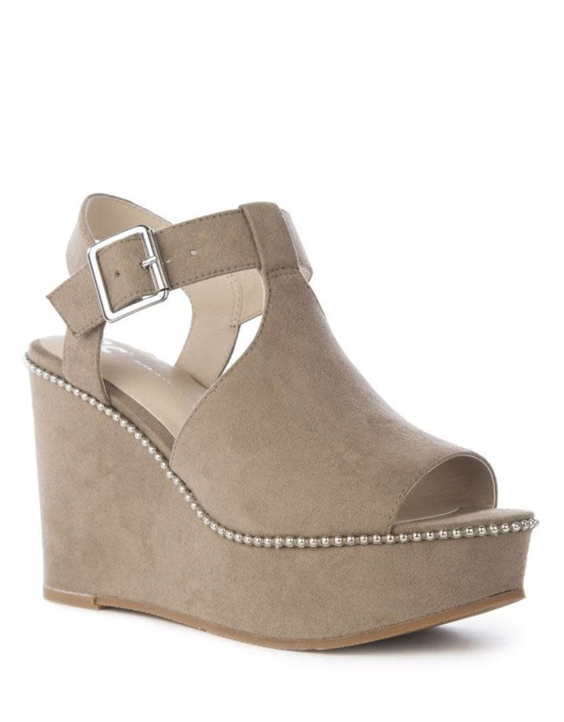Here We Go Taupe  Sandal
