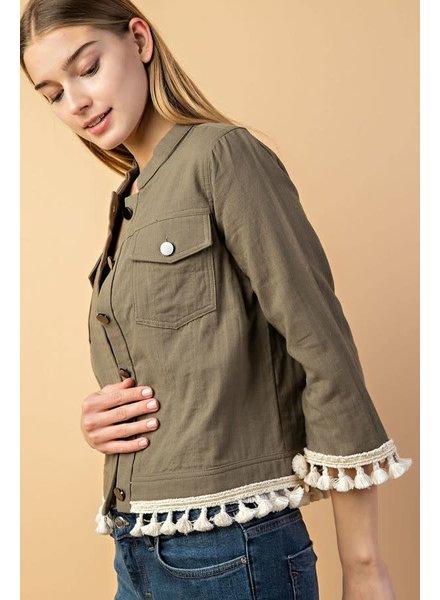 Buttom Down Tassel Jacket