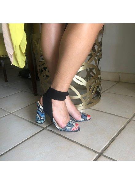 Sandal Leather Embro Cobra Saphire