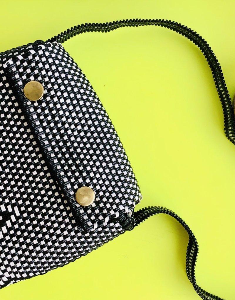 CrossBody Bag Black and White
