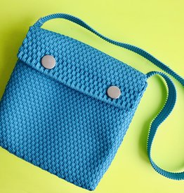 Blue Embroidery Bag Crossbody