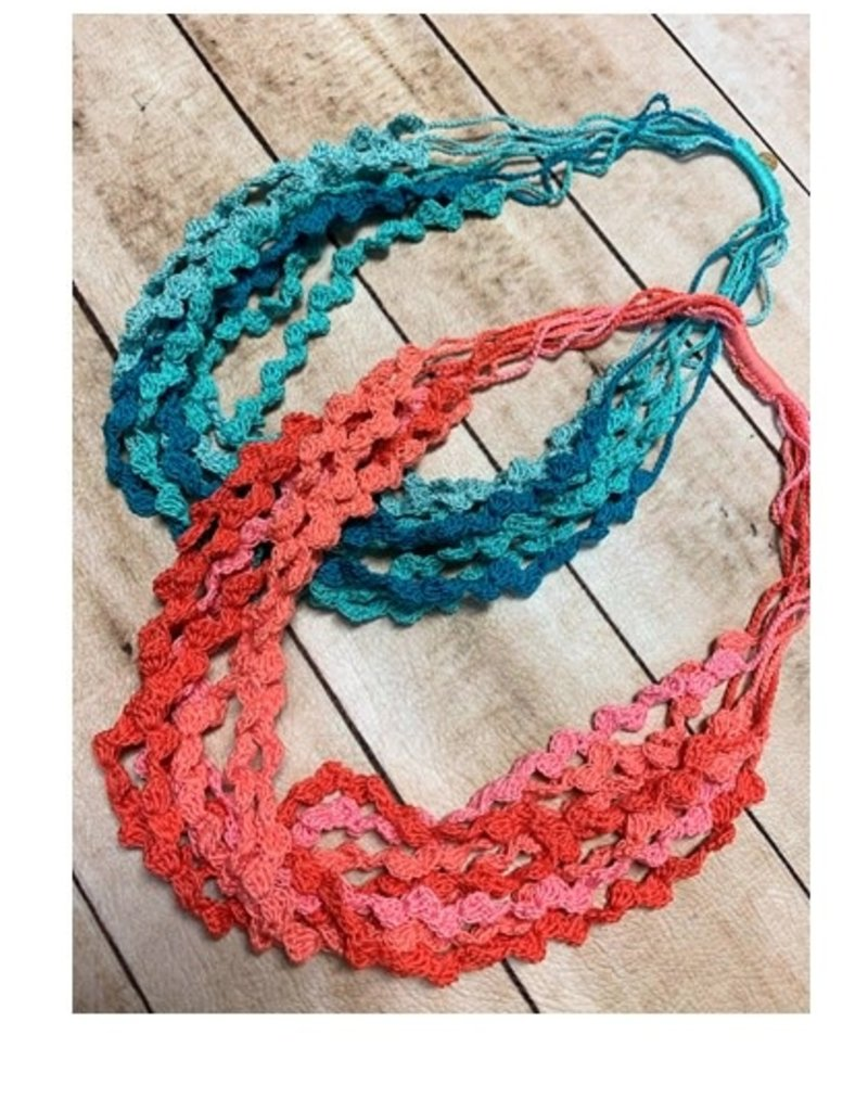 Crochet Layers Pink  Necklaces