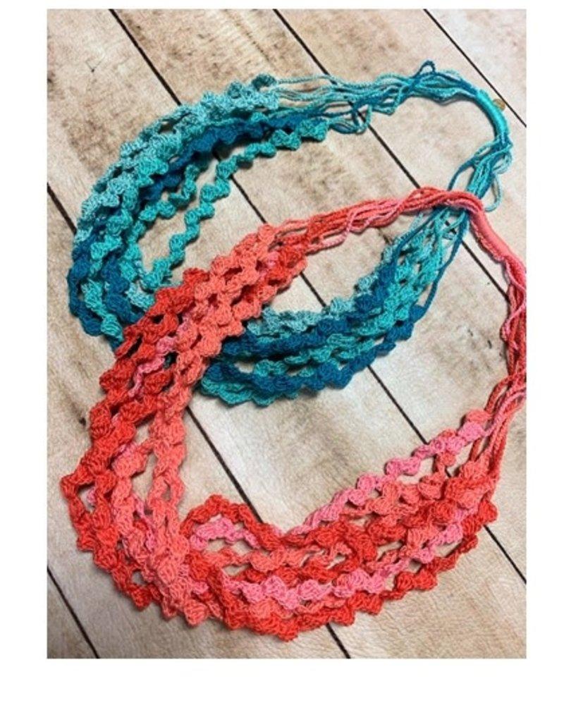Crochet Layers Blue Necklaces