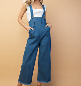 Denim Adjustable Strap Overalls