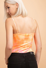 Tie Dye Straight Neck Bodysuit
