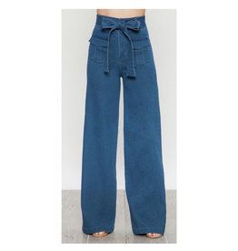HighWaisted Tie Jeans