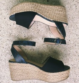 Wedge Sandal Leather Nubuck