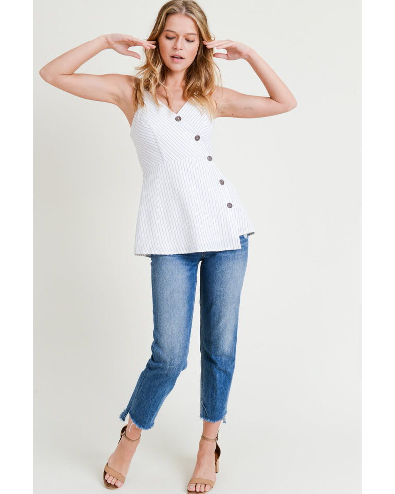 Buttom Down V neck Top