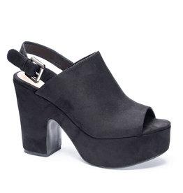 Bella Fine Suede Platform Heel