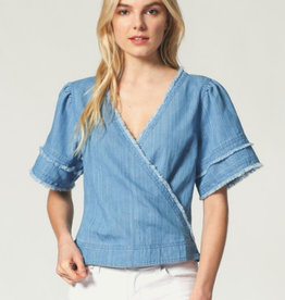 Wrap Style Chambray Top